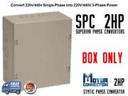 Static Phase Converter - 2 Hp - Create 3 Phase Power From Single Phase Supply