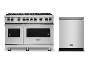 Viking Pro Dual Fuel 48 Range With 8 Burners And Free Dishwasher - Vdr5488bss