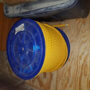 2 1/4 Inch Polypropylene Rope 600 Foot Roll New On Spool.
