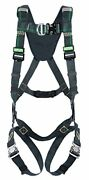 Msa Safety 10164024 Evotech Arc Flash Full Body Harness With Back, Chest And Hip
