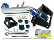 Cold Heat Shield Air Intake + Blue Filter For 15-20 Ford F150 5.0l V8