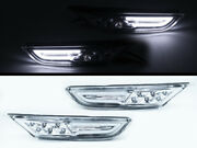 Clear Dual Drl+led Side Markers Turn Signal Indicator Light Fits Nissan Gt-r R35