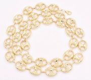 15mm Puffed Mariner Anchor Link Chain Necklace Real Solid 10k Yellow Gold