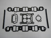 1966 1967 340 Buick Intake Manifold Gaskets Complete Thermostat Carburetor 66 67