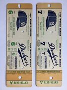 1956 World Series Game 6 And 7 Dodgers Yankees Tickets Jackie Robinson Vin Scully