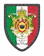 Italy Royal Coat Of Arms Country Hanging Display Shield - Italian Flag