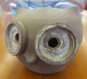 "Vintage Mid Century Modern Rosemary Taylor Pottery Brown 4"" Owl Figurine"