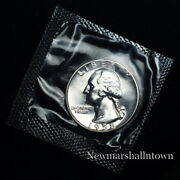 1958 Washington Quarter Silver Mint Proof From U.s. Proof Set In Mint Cellophane