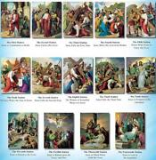 Stations Of The Cross Lithograph Poster Set 12 X 16