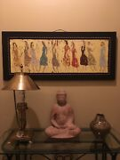 Scott Griffin - The Misses - Encaustic And Oil On Wood Painting Signed And Dated