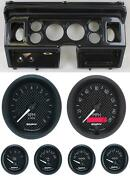 80-86 Ford Truck Carbon Dash Carrier W/ Auto Meter 3-3/8 Gt Gauges