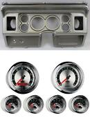 80-86 Ford Truck Silver Dash Carrier W/ Auto Meter 3-3/8 American Muscle Gauges
