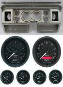 80-86 Ford Truck Silver Dash Carrier W/ Auto Meter 3-3/8 Gt Gauges