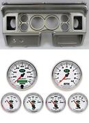 80-86 Ford Truck Silver Dash Carrier W/ Auto Meter 3-3/8 Nv Gauges