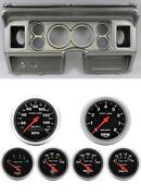 80-86 Ford Truck Silver Dash Carrier W/ Auto Meter Sport Comp Electric Gauges
