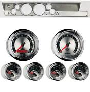 67-69 Barracuda Silver Dash Carrier W/ Auto Meter 5 American Muscle Gauges