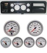 73-79 Ford Truck Carbon Dash Carrier W/ Auto Meter 3-3/8 Ultra-lite Ii Gauges