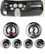 69 Chevelle Black Dash Carrier W/ Auto Meter 3-3/8 American Muscle Gauges