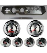 64 Chevelle Silver Dash Carrier W/ Auto Meter 3-3/8 American Muscle Gauges