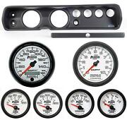 65 Chevelle Black Dash Carrier W/ Auto Meter 5 Phantom Ii Gauges