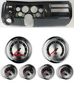 69 Chevelle Carbon Dash Carrier W/ Auto Meter 3-3/8 American Muscle Gauges