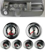 69 Chevelle Silver Dash Carrier W/ Auto Meter 3-3/8 American Muscle Gauges