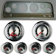 65-66 Chevy Truck Silver Dash Carrier W/ Auto Meter American Muscle Gauges