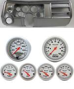 69 Chevelle Silver Dash Carrier W/ Auto Meter 3-3/8 Ultra-lite Electric Gauges