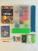 Huge Rainbow Loom Kit Rubber Bands Refill Packs Organizer Book Charms + More