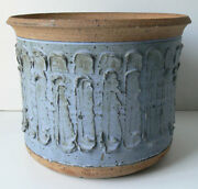STUDIO POTTERY PLANTER possibly DAVID CRESSEY/ROBERT MAXWELL architectural WOW!
