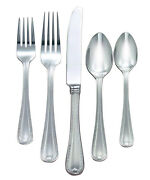 Lenox Vintage Jewel Frosted 18/10 Stainless 40 Pc Flatware Set, Service For 8