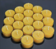 60 Beautiful 100 Beeswax Tealight Candle No Additives