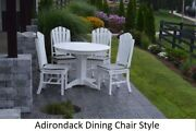 Aandl Furniture Co. Amish-made Poly 5pc Dining Set - Table And Adirondack Chairs