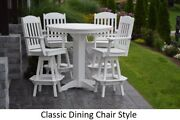 Aandl Furniture Co. Amish-made Poly 5pc Dining Set - Bar Table And Classic Chairs