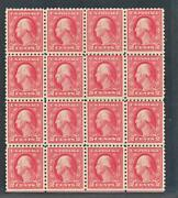 United States 467 Mint Nh Block Of 16 Double Error Perf 10
