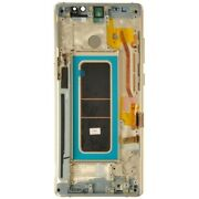 Lcd Digitizer Frame Assembly For Samsung Galaxy Note 8 Maple Gold Aftermarket
