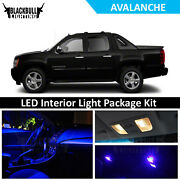 Blue Led Interior Light Accessories Package Kit For 2007-2013 Chevy Avalanche