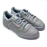 Nwt Adidas Yeezy Powerphase Gray Leather Calabasas Sneakers Shoes 10 5 Authentic