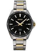 Seiko Menand039s Solar Two-tone Stainless Steel Bracelet Watch 43mm Sne485
