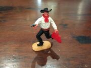 Timpo Bank Robber - Rare Red Bank Bag - Wild West - 1970s