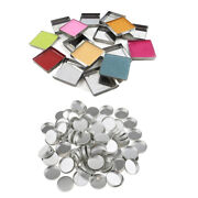 100 Empty Eyeshadow Blush Makeup Pans For Magnetic Palette Box Square Round