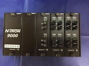 Red Lion N-tron 9000 Bp 4 Slot Chassis W/ 9000cpu 9000fp 9002fx 2 9004fx