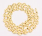 7mm Puffed Mariner Anchor Link Chain Necklace Real 14k Yellow Gold Unisex