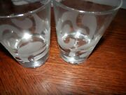 Set Of 2 Baileys Drink Glasses Bubble Bottom Clear Glass 8 Oz