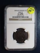1859/8 Canada Large Cent Ngc Xf40 Bn Wide 9 1c Coin Priced To Sell Now