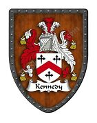 Kennedy - Scotland Family Crest Coat Of Arms Hanging Shield Sh503p-dg-hg