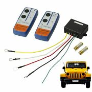 Wireless Winch Remote Control 100ft Kit For Car Truck Jeep Atv Warn Ramsey 12v