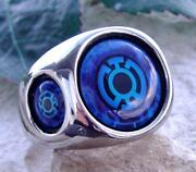 Sterling Silver Lantern Ring Blue Green Red Blue Dc Comics Hero Necklace N46