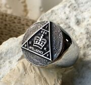 Sterling Silver 925 British Mi5 Intelligence Ring Badge Pin Patch Military D106