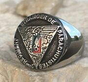 Parachute 2nd Regiment Foreign Legion French Army Ring Sterling Silver D111